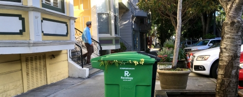 photo of compost bin on Noe Street, SF